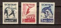 Finlande Finland  1938 Yvert 200-02 *** MNH Cote 27 Euro Sport Ski - Finland