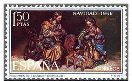 España 1966 Edifil 1764 Sello ** Christmas Nöel Navidad Nacimiento (Duque De Cornejo) 1Pta Completa Spain Stamps Espagne - 1931-Hoy: 2ª República - ... Juan Carlos I