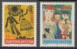 "Jugoslavija Yugoslavia 1983 Mi 2002 /3 YT 1885 /6 ** Children's Drawings / Kinderzeichnungen ""Joy Of Euroope"" Meeting - 1945-1992 Socialist Federal Republic Of Yugoslavia"