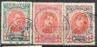 Belgium  B31 To B33, Used, SCV$  23.00,    (belb031-4,   Michel  110 To 112 - 1914-1915 Red Cross