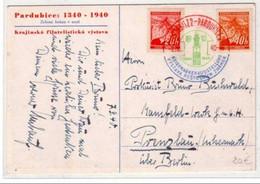 BOHEME Et MORAVIE - OBLITERATION BICOLORE De PARDUBICE - - Lettres & Documents