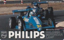 Télécarte Japon - Voiture Formule 1 / Publicité PHILIPPS - Racing CAR Japan Phonecard - Auto's