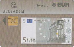 Télécarte à Puce De Belgique - Monnaie /  BILLET De BANQUE - Banknote Chip  Phonecard Coin - 24 - Timbres & Monnaies