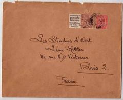 RARE - Timbre Avec Vignette De Carnet Sur Lettre - Manchester Pour PARIS - 1934 - 1902-1951 (Rois)