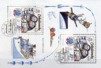 Jubiläum 5 Jahre Kosmonauten-Flug Remek CSSR Block 53 O 12€ Interkosmos-Programm USSR Blocchi Bf M/s Space Sheet Of CSR - Blocchi & Foglietti
