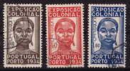 1934  Exposition Coloniale  Afinsa 561-3 - 1910-... République