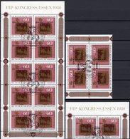 1980 FIP-Kongreß Essen BRD 1065 ZD-Paar,VB+Kleinbogen SST 15€ Post-Schild Bloque Sheet M/s Bloc Sheetlet Bf Germany - Post