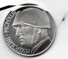 Medaglia 20 LIRE 1943 MUSSOLINI – DUCE See Scan - Autres