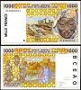 WEST AFRICAN ST. 1,000 FR. SENEGAL P 711 K UNC - Senegal