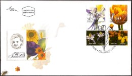 """ISRAEL 2006 - Sc 1640/1641 - """"My Own Stamp"""" - Flowers - Tulip - Columbine - Set Of Stamps With Tabs - FDC - Otros"""