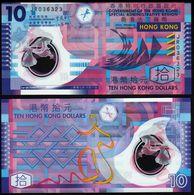 HONG KONG 10 Dollars  2007 UNC Polymer - Hong Kong
