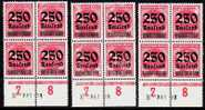 DR Nr 295 * Drei (3) Mal 4ter Block Mit Abart Inflation H 5341 23 / Randbogen - Unused Stamps