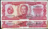 ® URUGUAY 1967: COLECCIONISTAS!! - 2 Billetes C/diferencia En Firma - Uruguay