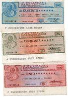 Italia ITALY 100 Lire 200 LIRE  150 LIRE 1976 Assegni E Miniassegni ISTITUTO BANCARIO SAN PAOLO TORINO - [10] Scheck Und Mini-Scheck