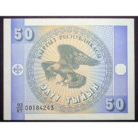 KYRGYZSTAN KIRGHISTAN  Watermark Stylized Eagle - UNC-  50 SOM 1993 - Kirgisistan