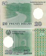 TAJIKISTAN 1 RUBLE 1994 P 1 UNC - Tadjikistan