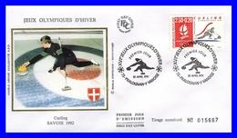 2680 (Yvert) Sur FDC - Albertville 92. Jeux Olympiques D´hiver Curling-démonstration - France 1991 - FDC