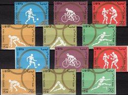 Olympiade 1964 Perf/imperf.LIBYAN 166/1A+B Aus Block 8 ** 24€ Sprung Boxen Fußball Hürden Rad-Sport Bloc Bf Olympic - Summer 1964: Tokyo