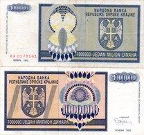 CROATIA 100000 Dinara 1993 Knin VF - Croatia