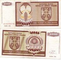 CROATIA 50000 Dinara 1993 Knin VF - Croatia