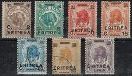 Erythrée - 1922 - Y&T N° 54 à 60, 5 Neufs Avec Charnière Et 2 Oblitérés, Série Complète - Erythrée
