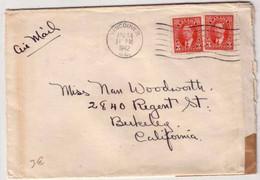 CANADA - GUERRE 39/45 - LETTRE Avec CENSURE De VANCOUVER Pour La CALIFORNIE (USA) - 1942