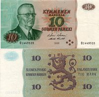 FINLAND 1 Marka Banknote World Money VF Currency BILL - Finland