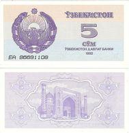 * UZBEKISTAN 3+5+10 SUM 1992 P 62+63+64 Set 3 Pcs - Uzbekistan