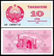 * UZBEKISTAN - 10 SUM 1992 UNC - P 64 - Uzbekistan