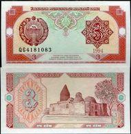 * UZBEKISTAN - 3 SUM 1994 UNC - P 74 - Uzbekistan