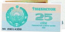 * UZBEKISTAN - 25 SUM 1992 UNC - P 65 - Uzbekistan