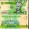 * TURKMENISTAN - 1 MANAT 2009 UNC - P 22 - Turkmenistán