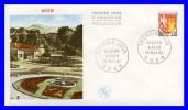 1353A (Yvert) Sur Enveloppe Premier Jour (PJ) - Armoiries De Villes. Blason D'Agen - France 1964 - FDC