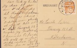 Faroe Islands PPC Toftevand Og Skaalefjord Færöerne Postally Used 1935 (2 Scans9 - Färöer