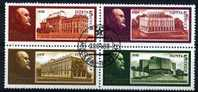 *A12* - Russia & URSS 1988 - 118° Anniv.nascita Di Lenin. Vedute Dei Musei - 4 Val. Oblit. - Perfetto - Usati