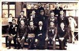 16549 Carte Photo Brecey Classe 1932-1933, Café Boursin, Tél 33 ; Etat Moyen