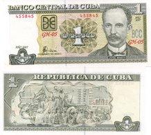 CUBA 1 PESO 2007 Banknote Unc - Cuba