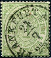 Pays :  22 (Allemagne : Confédération Allemagne Du Nord)     Yvert Et Tellier N° :   18 (o) - Norddeutscher Postbezirk