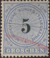 Pays :  22 (Allemagne : Confédération Allemagne Du Nord)     Yvert Et Tellier N° : Tg  5 (o) - Norddeutscher Postbezirk (Confederazione Germ. Del Nord)