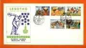LESOTHO 1980 FDC Mint Olympic Games 291-295 - Summer 1980: Moscow