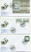 United Nations Unies Vienne 1995 3 FDC Anniversaire Anniversary ONU UNO Stamp Minisheet - FDC