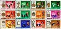 1978 North Korea Olympic Stamps Gymnastics Rowing Fencing Cycling Boxing High Jump Shooting - Gymnastics