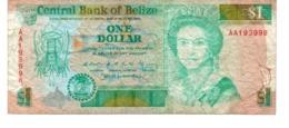 Belize Banknote 1 Dollar 1990 Vf - Belice