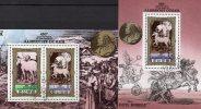 Dürer Gemälde Das Große Pferd Korea 2041/2 KB+Block 81 O 20€ Würdigung Des Malers Bf Art Bloc Painting Sheetlet Of Corea - Korea (...-1945)