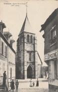 Dép. 18 - VIERZON. Eglise Et Epicerie. Animée. 1918 - Vierzon