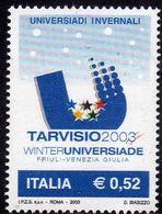 ITALIA REPUBBLICA  ITALY REPUBLIC 2003 UNIVERSIADI INVERNALI DI  TARVISIO WINTER OLYMPIC GAMES MNH - 6. 1946-.. Republic