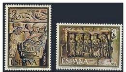 España 1973 Edifil 2162/3 Sellos ** Christmas Nöel Navidad Nacimiento Capitel Monasterio De Silos Y Adoración De Los Rey - 1931-Hoy: 2ª República - ... Juan Carlos I