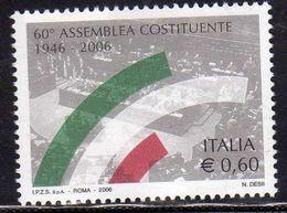 ITALIA REPUBBLICA ITALY REPUBLIC 2006 ANNIVERSARIO DELL´ELEZIONE DELL´ASSEMBLEA COSTITUENTE MNH - 6. 1946-.. Republic
