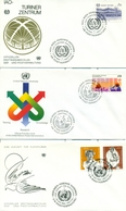 United Nations Unies Austria 1984 1989 21 FDC Small Collection - FDC
