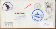 """TAAF PLI KERGUELEN TP 216 Obl. 5 - 11 1999. Programme Popchat. Cachet """"La Curieuse"""".  Voir Photo. - Terres Australes Et Antarctiques Françaises (TAAF)"""
